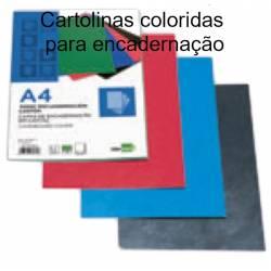 Cartolinas coloridas A4 para encadernação