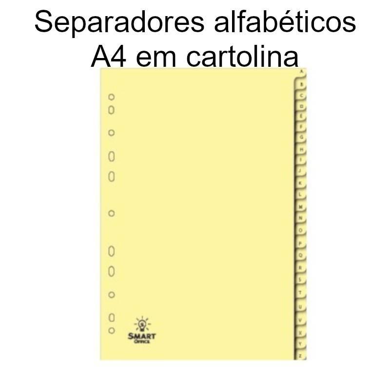 Separadores alfabéticos em cartolina A4