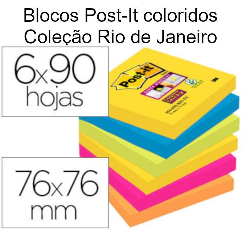 Post-It 76x76 Coleção Rio de Janeiro