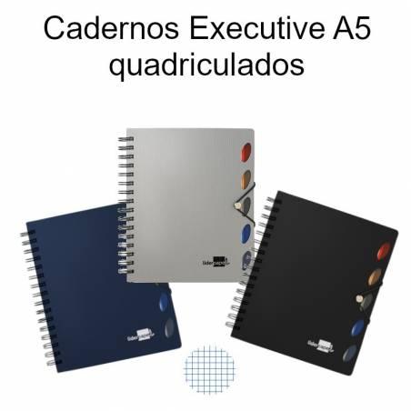 Cadernos Executive A5 quadriculados