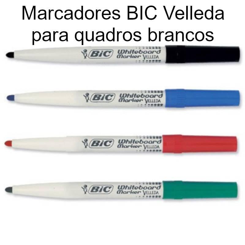 Marcadores Bic Velleda para quadros brancos