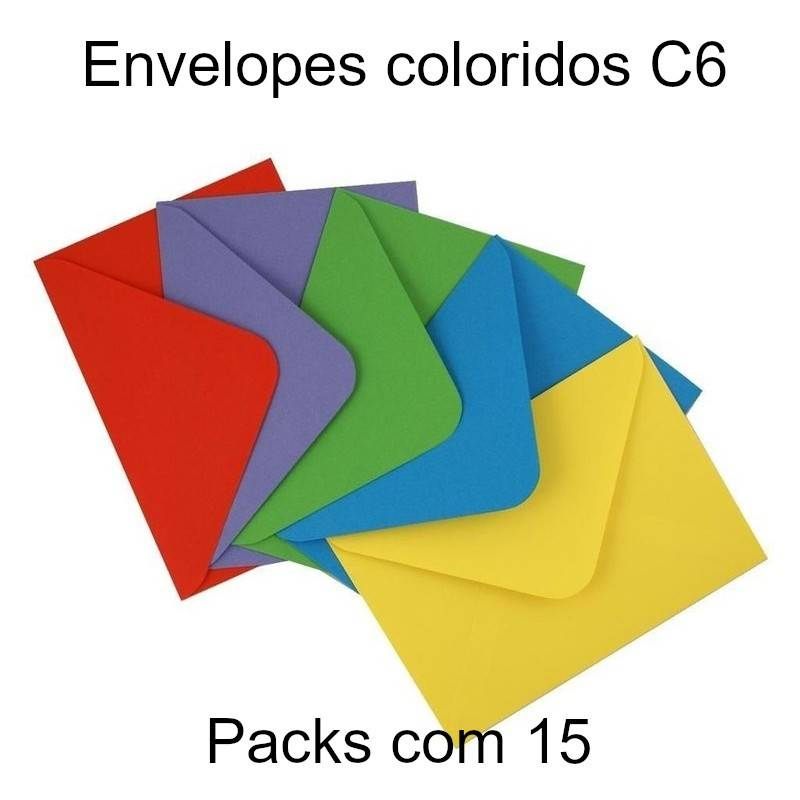 Envelopes coloridos C6