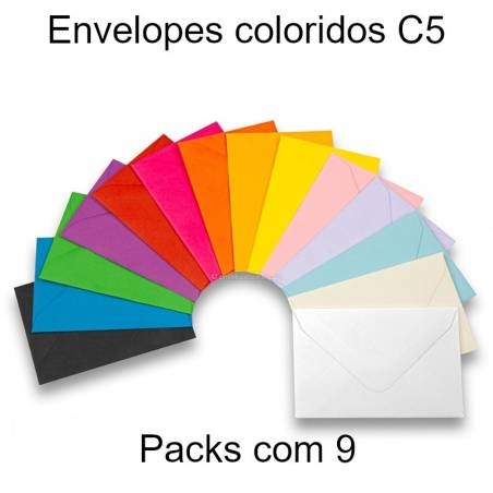 Envelopes C5 coloridos