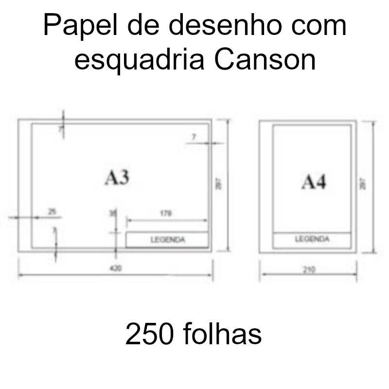 Papel de desenho com esquadria Canson