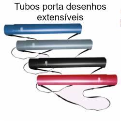 Tubos porta desenhos extensíveis até 80 cm