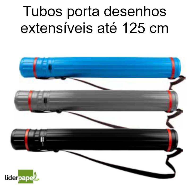 Tubos porta desenhos extensíveis até 125 cm