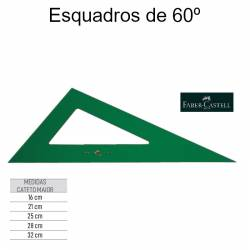 Esquadros 60º Faber-Castell