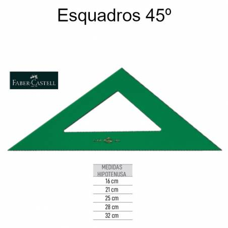 Esquadros 45º Faber-Castell