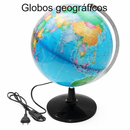 Globos geográficos com luz