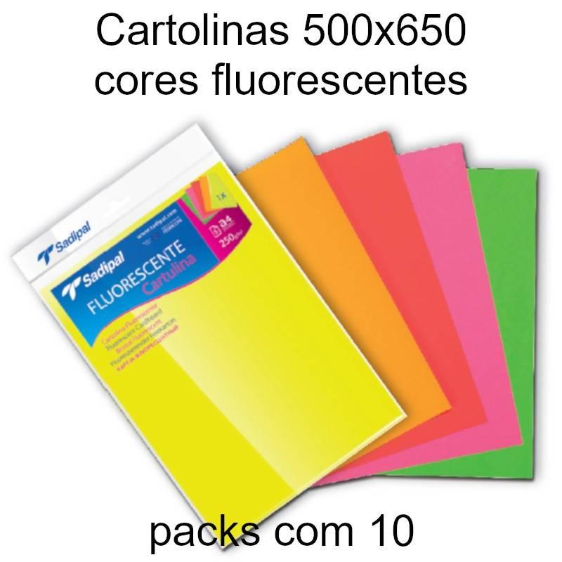 Cartolinas fluorescentes