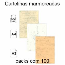 Cartolinas marmoreadas