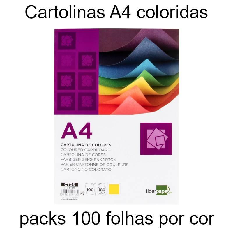 Cartolinas A4 coloridas