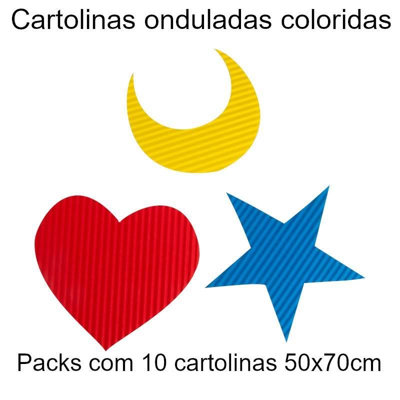 Cartolinas onduladas coloridas 50x70cm