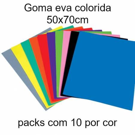 Goma eva colorida 50x70cm