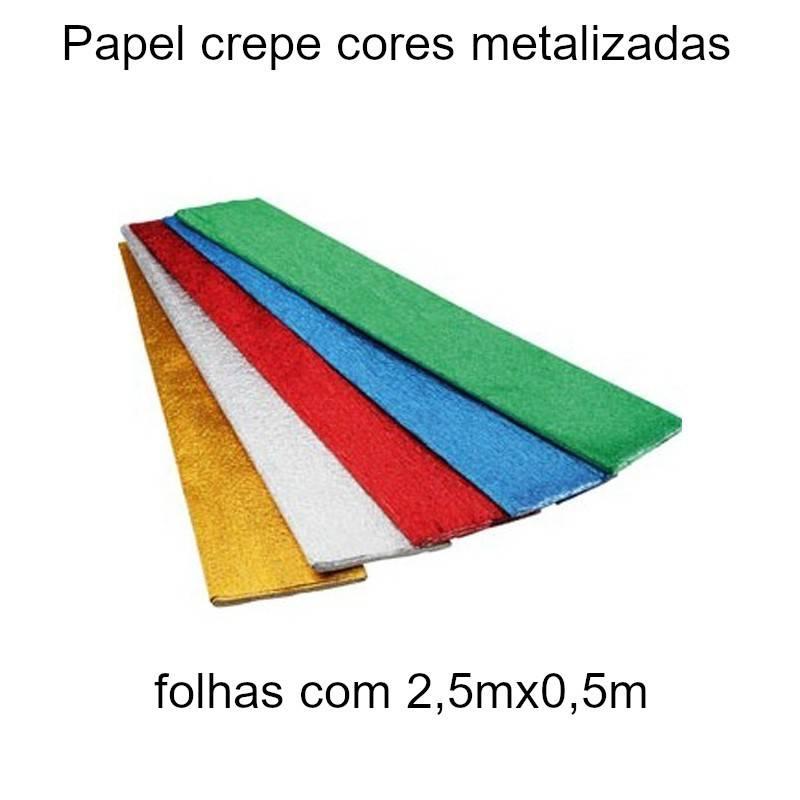 Papel crepe cores metalizadas