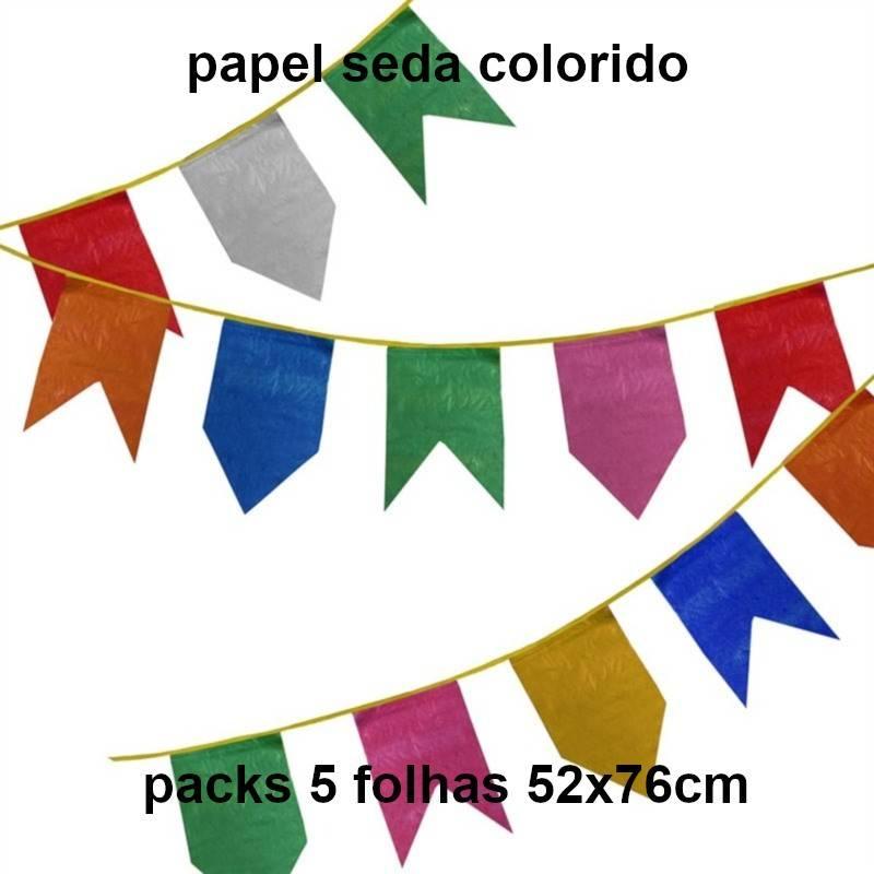 Papel seda colorido
