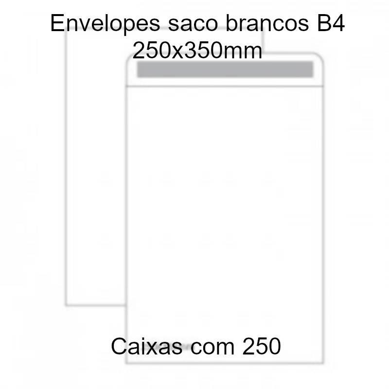 Envelopes saco brancos B4