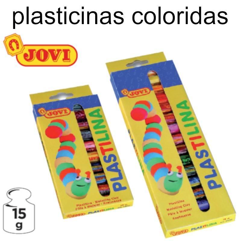 Plasticinas coloridas Jovi - barras de 15 g. sortidas