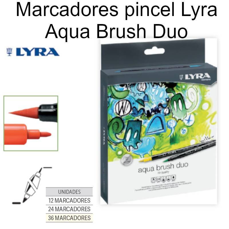 Marcadores pincel Lyra Aqua Brush Duo