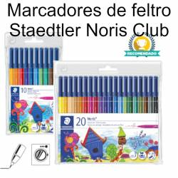 Marcadores de feltro Staedtler Noris Club