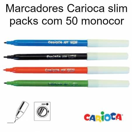 Marcadores de feltro Carioca Slim