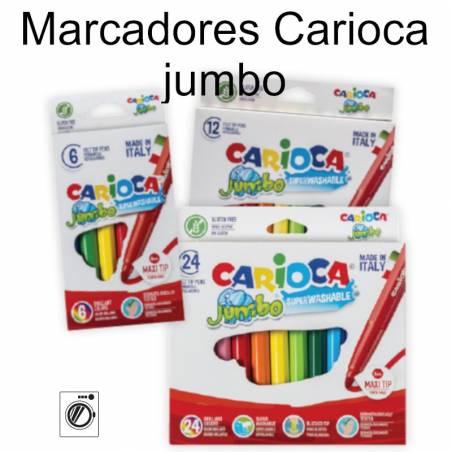 Marcadores de feltro Carioca Jumbo
