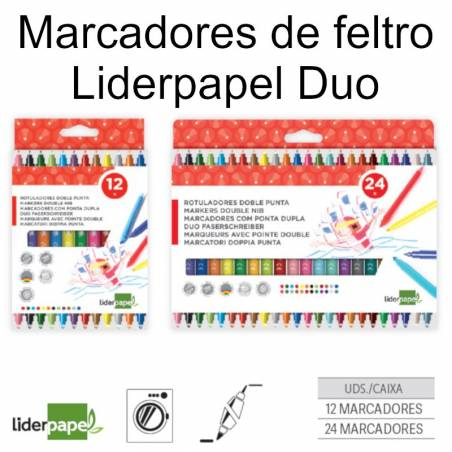 Marcadores de feltro Liderpapel Duo