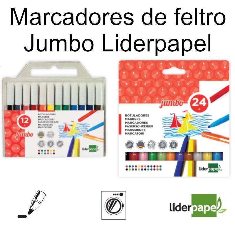 Marcadores de feltro Jumbo Liderpapel