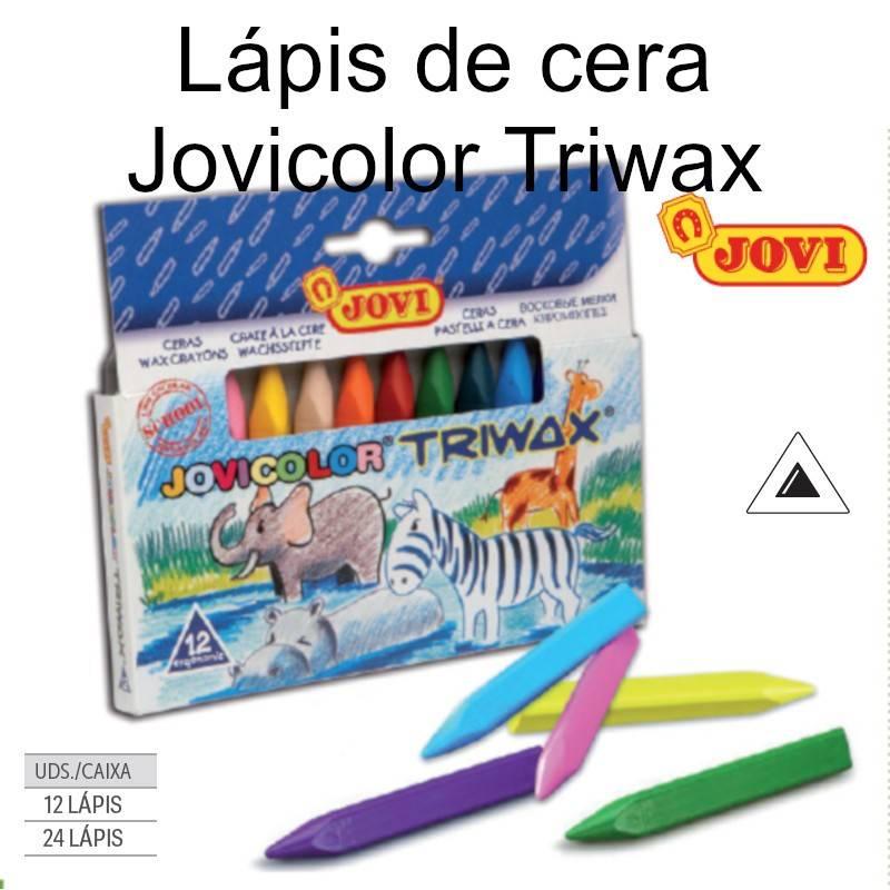 Lápis de cera Jovicolor Triwax