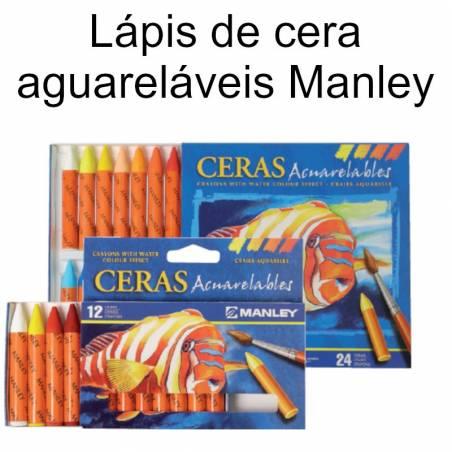 Lápis de cera aguareláveis Manley