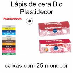 Lápis de cera Bic Plastidecor (embalagens monocor)