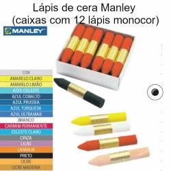 Lápis de cera Manley caixas com 12 lápis monocor
