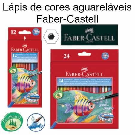 Lápis de cores aguareláveis Faber-Castell
