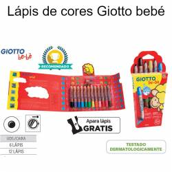 Lápis de cores Giotto bebé