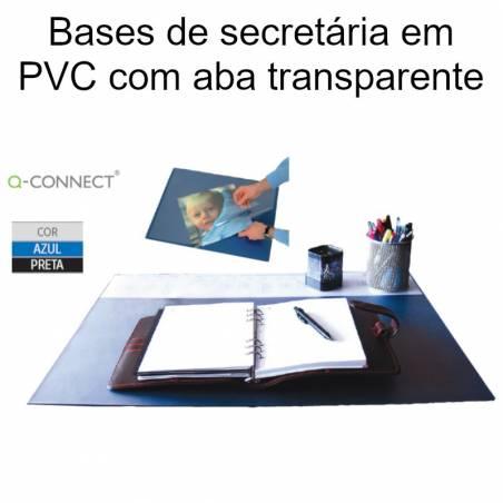 Bases de secretária em PVC com aba transparente