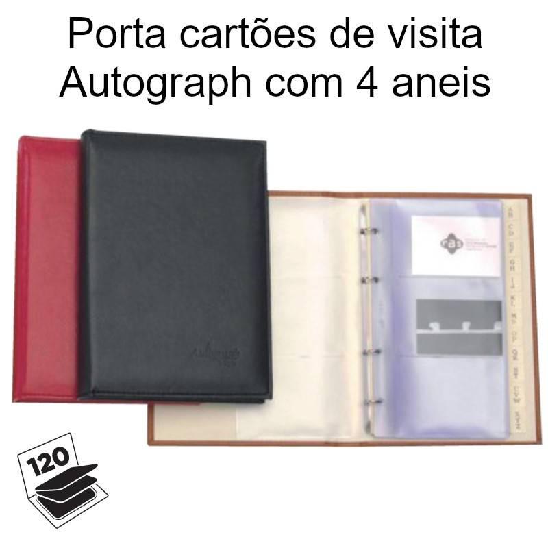 Porta cartões de visita Autograph com 4 aneis