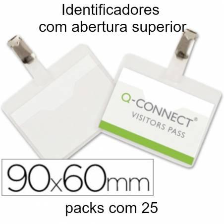 Identificadores 90x60 mm com mola e abertura superior