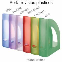 Porta revistas em plástico - cores tranlúcidas