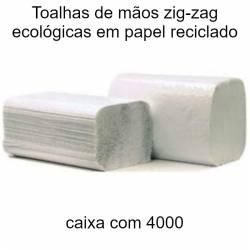 Toalhas de mãos zig-zag ecológicas em papel reciclado