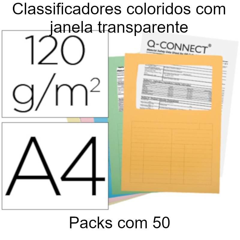 Classificadores coloridos com janela transparente