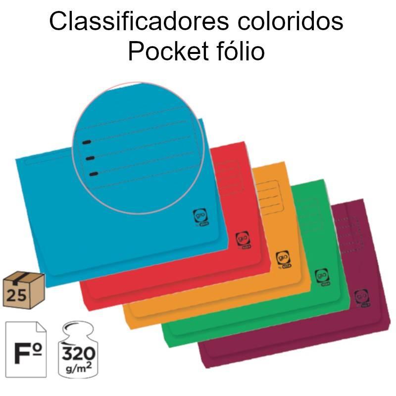 Classificadores coloridos Pocket fólio