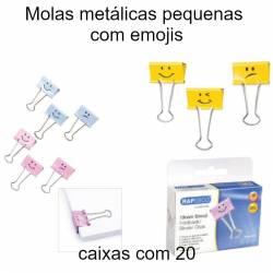 Molas metálicas pequenas  com emojis