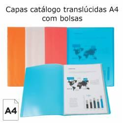 Capas catálogo translúcidas A4 com bolsas