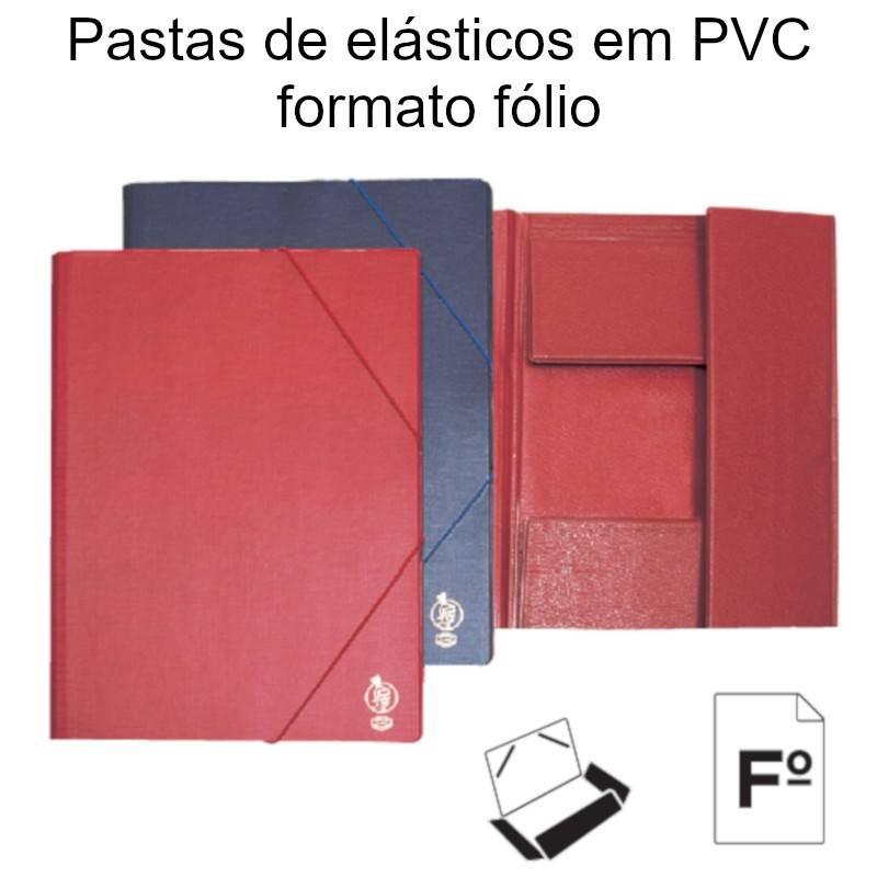 Pastas de elásticos em PVC formato fólio