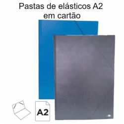 Pastas de elásticos A2 em cartão