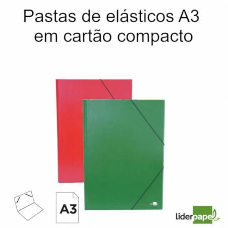 Pastas de elásticos A3 em cartão compacto