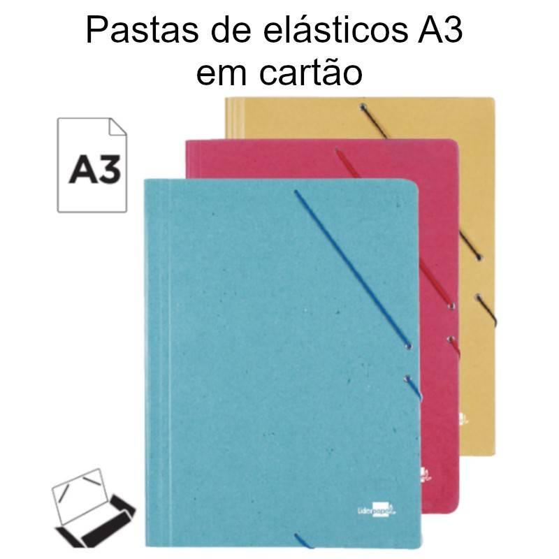 Pastas de elásticos A3 em cartão