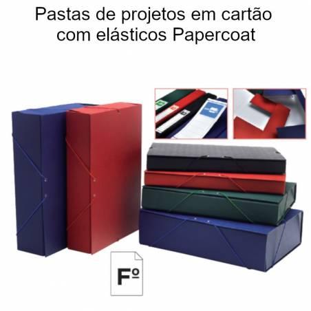 Pastas de projetos em cartão com elásticos Papercoat