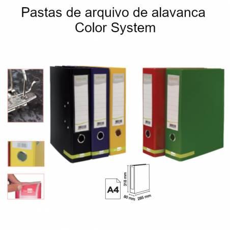 Pastas de arquivo de alavanca Color System