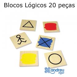 Blocos Lógicos 20 peças
